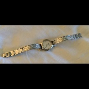 Coach mother of pearl logo etched watch